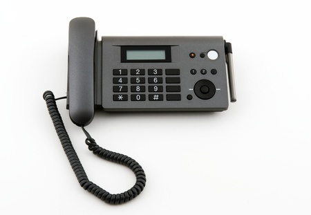 Dark grey telephone office isolated on white Stock Photo - 13692522