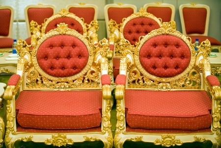 luxury chairs in reception room, China. Stock Photo - 13710555
