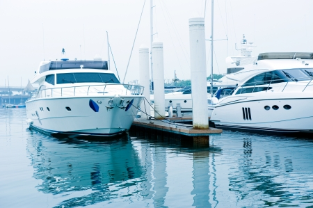 yachts moored at Marina on a summers day. Stock Photo - 13744766