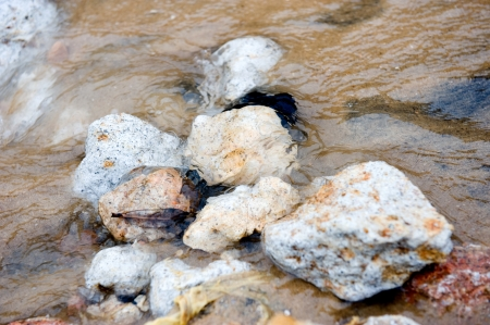 fount: Alone stone in the water