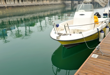 boat in a harbor in China. Stock Photo - 13757999