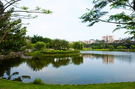 Beautiful lake view in a university ,China. Stock Photo - 13751433