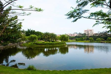 Beautiful lake view in a university ,China. Stock Photo - 13751433