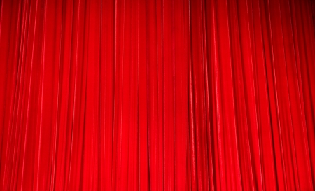 plush red velvet theatre curtains. Stock Photo - 13758000