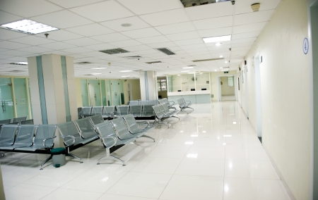 Hospital waiting room with empty chairs. Stock Photo - 13760874