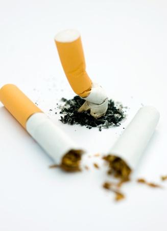 Stop smoking concept. Broken cigarette Stock Photo