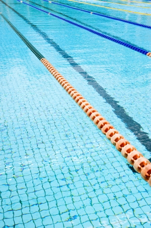 slantwise: corsie di plastica in piscina.