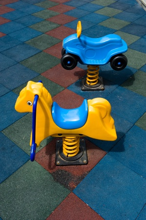 two toys on the children playground. photo