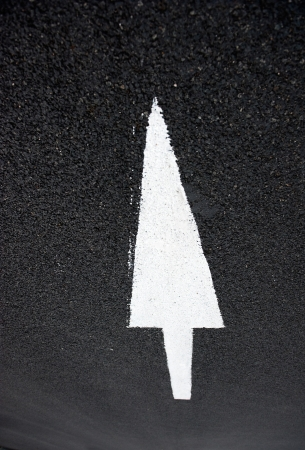 Arrow on the road, concept of business vision, innovation, success.