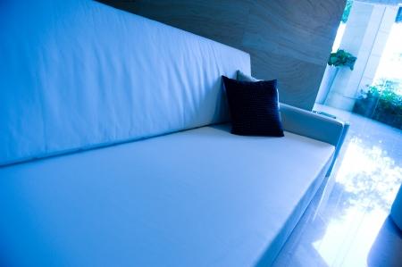 decorative pillows on a contemporary sofa.  Stock Photo - 13831839