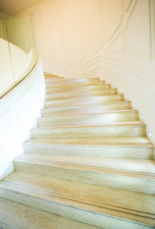 Bright, marble staircase in high building.  Stock Photo - 13861013