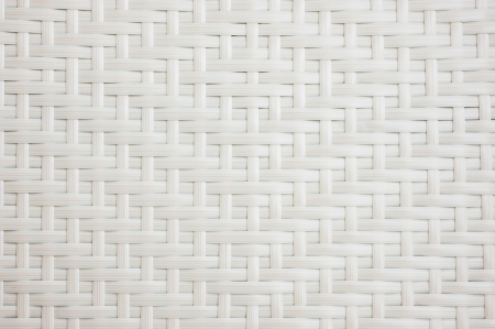 rattan mat: A chair white white basket weave pattern. Stock Photo