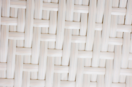 plait: A chair white white basket weave pattern. Stock Photo