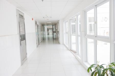 long corridor in a hospital.  Stock Photo - 13860975