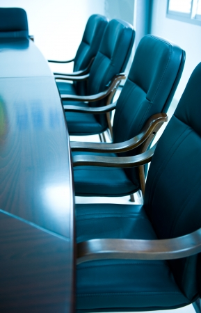 boardroom: blue tone of empty boardroom or meeting room.
