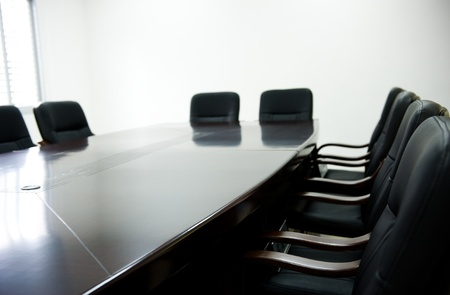 empty tank: empty boardroom or meeting room.  Stock Photo