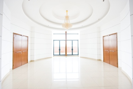 commodious: empty hall of modern building.