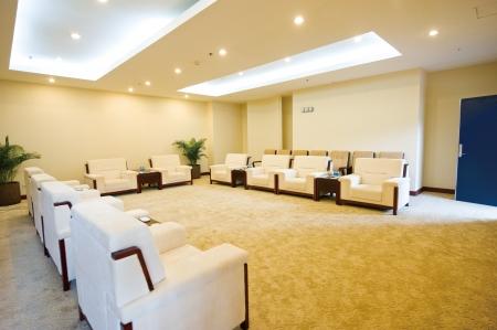 hotel reception: reception room in a hotel.
