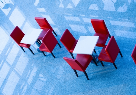 top view of office bar with chairs and tables. Stock Photo - 13827268