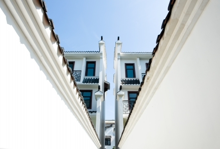 oudoor: Chinese ancient architecture of Huizhou.  Stock Photo
