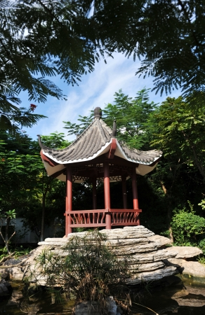 A little pavilion taken in the Chinese garden. photo