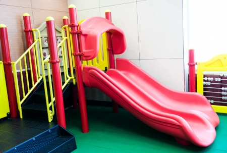 empty playground in a restaurant for children.  photo