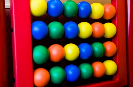 colorful abacus on childrens playground.  photo