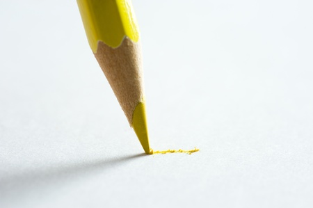 shallow depth of field: Close up of pencil writing on paper. Macro with extremely shallow depth of field