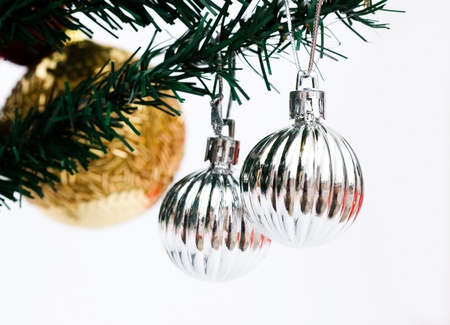 Christmas tree with ornamental decorations. Stock Photo - 13864160
