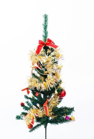 Christmas tree on a white background.  photo
