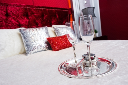 Romantic evening with champagne for Valentine's Day Stock Photo - 13883849