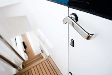 The door handle of luxury yacht. photo