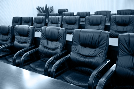 Head office boardroom with leather chairs. Stock Photo - 13974246