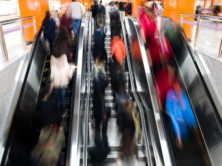 passenger in the subway station in shanghai china, blurred motion. Stock Photo - 13955107