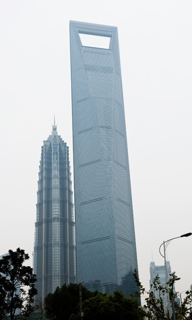 Jin Mao Tower and Shanghai word financial center  Stock Photo - 13954670