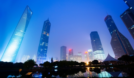 pudong district: Jin Mao Tower and Shanghai word financial center