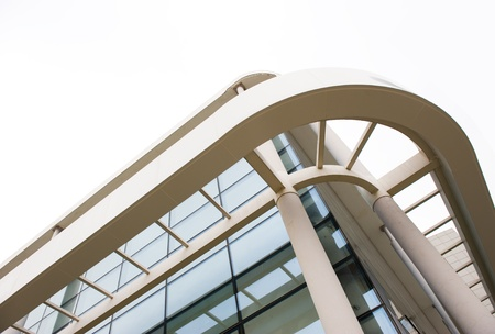modern glass wall of skyscraper photo