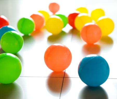 colorful plastic balls on children's playground. Stock Photo - 14048356
