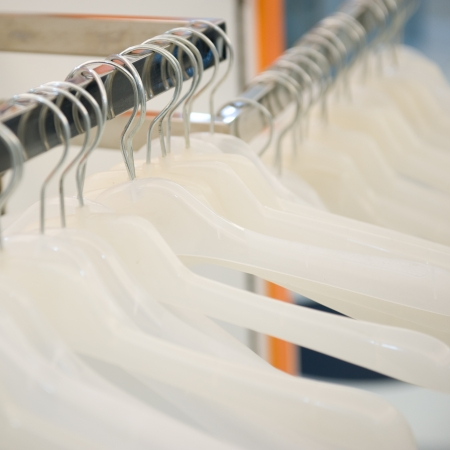 Empty hangers in a row at a retail store. Stock Photo - 14048328