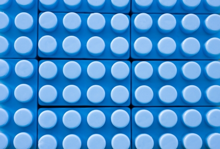 detail of blue plastic construction background.  Stock Photo - 14048645
