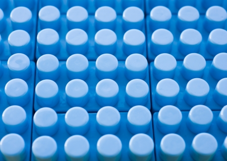 detail of blue plastic construction background. Stock Photo - 14048608