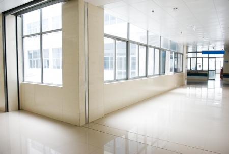 empty corridor in the  hospital.