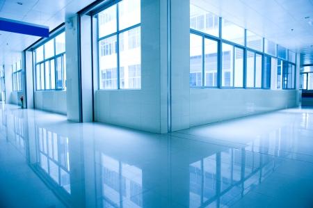 hospital corridor: empty corridor in the  hospital.