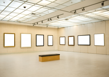 Interni Galleria con cornice vuota a parete Editoriali
