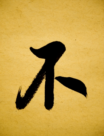 Illustration of black Chinese calligraphy . no illustration