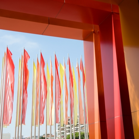 Colorful flags in a line. Stock Photo - 14058821