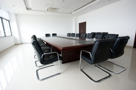 interior office: Conference table and chairs in meeting room  Editorial