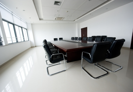 Conference table and chairs in meeting room  Stock Photo - 14052946