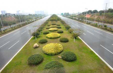 top view of empty asphalt road.  Stock Photo - 14053096