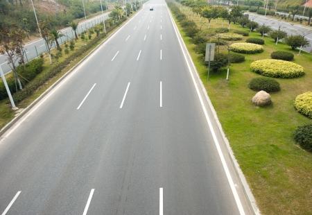 top view of empty asphalt road. Stock Photo - 14055914